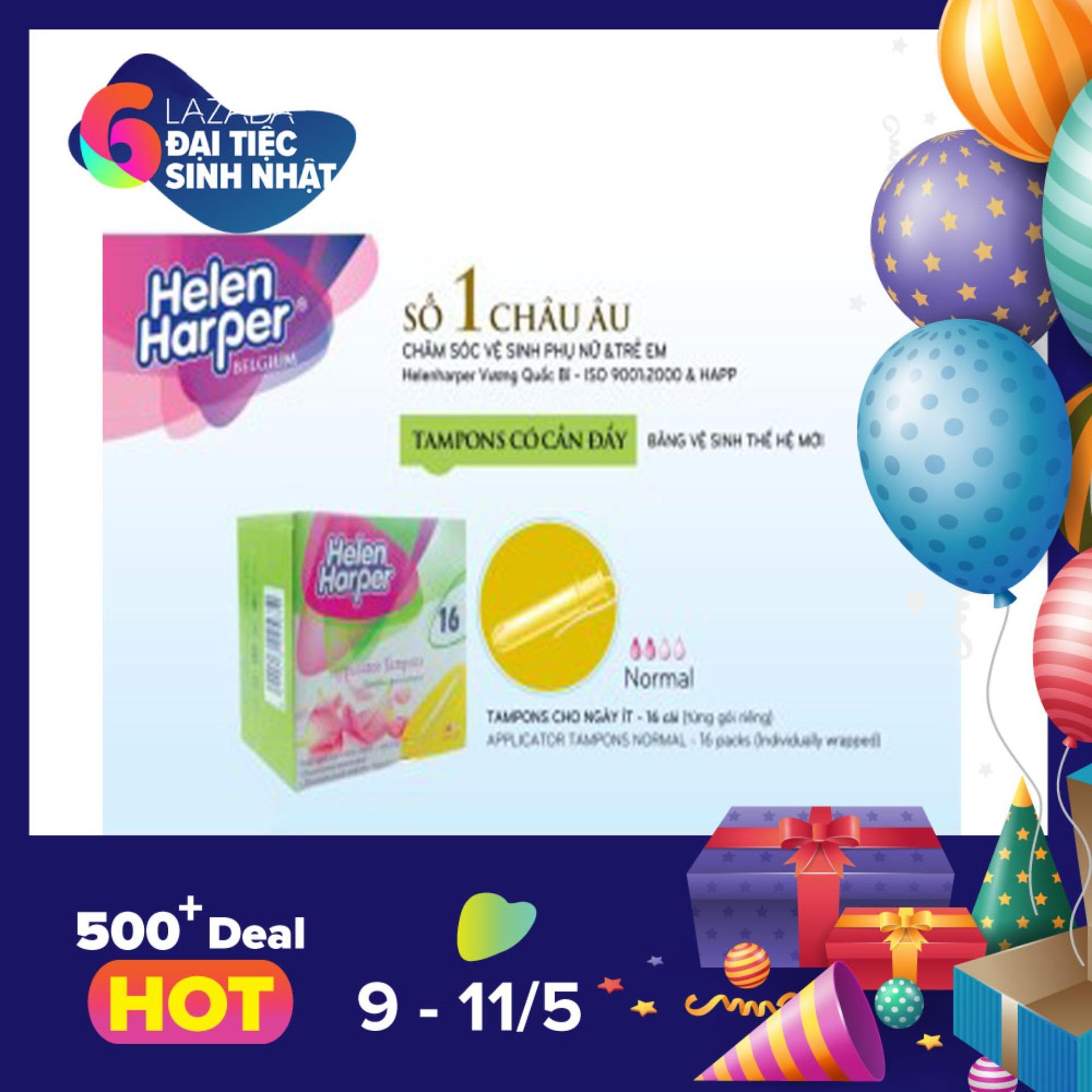 Bán Bộ 2 Băng Vệ Sinh Helen Harper Tampon Normal Appl 16 Miếng Goi Co Cần Đẩy Nhập Khẩu Từ Bỉ 32 Miếng Nhập Khẩu