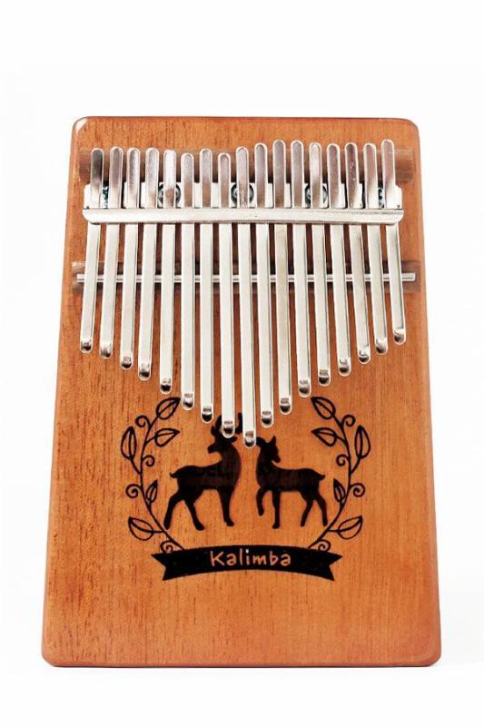 Đàn Kalimba gỗ mahogany 17 phím chuẩn thumb piano kèm đủ phụ kiện (Búa chỉnh âm, dán nốt, túi đựng, sách hướng dẫn) ML-K17 hươu