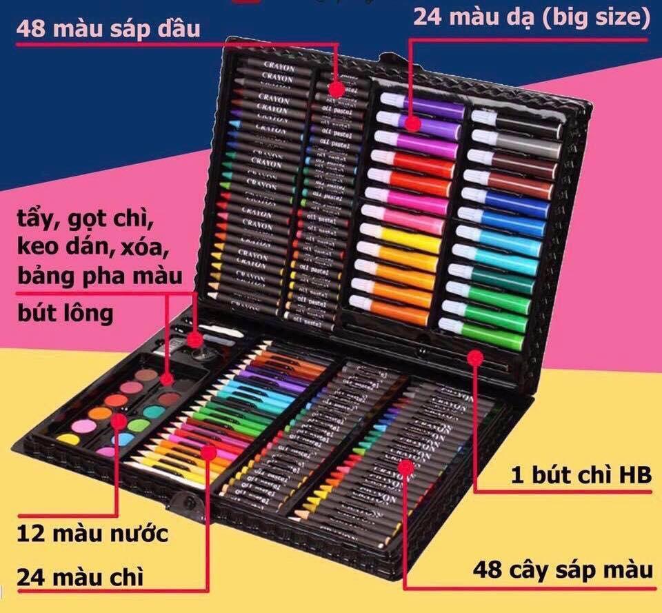 Mua Hộp bút màu 150 chi tiết