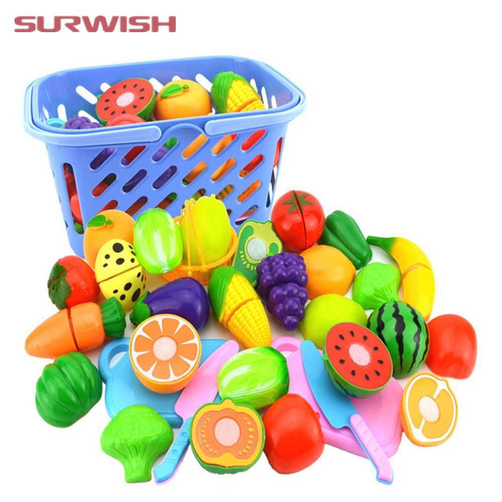 Hình ảnh Bộ đồ chơi cắt ghép trái cây bằng nhựa cho bé(20 món)