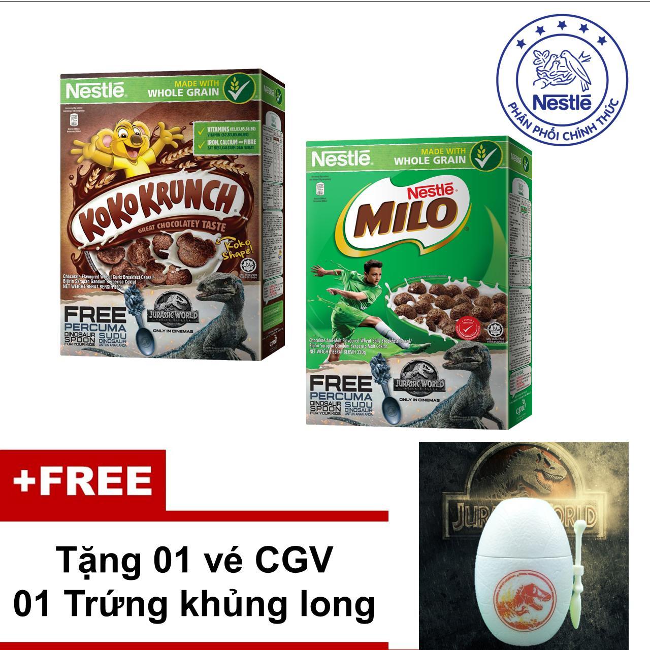 Ngũ Cốc Ăn Sáng Nestlé Koko Krunch 330g & Nestlé MILO 330g