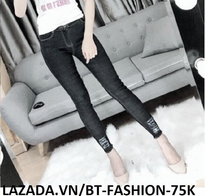 Bán Quần Jean Nữ Lưng Cao Coton Co Dan Thời Trang Mới Bt Fahsion Je009 Rl D