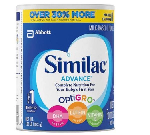 Giá Bán Sữa Bột Similac Advance Miễn Dịch Cho Be Từ 12 Thang 873G Của Mỹ Mới Rẻ
