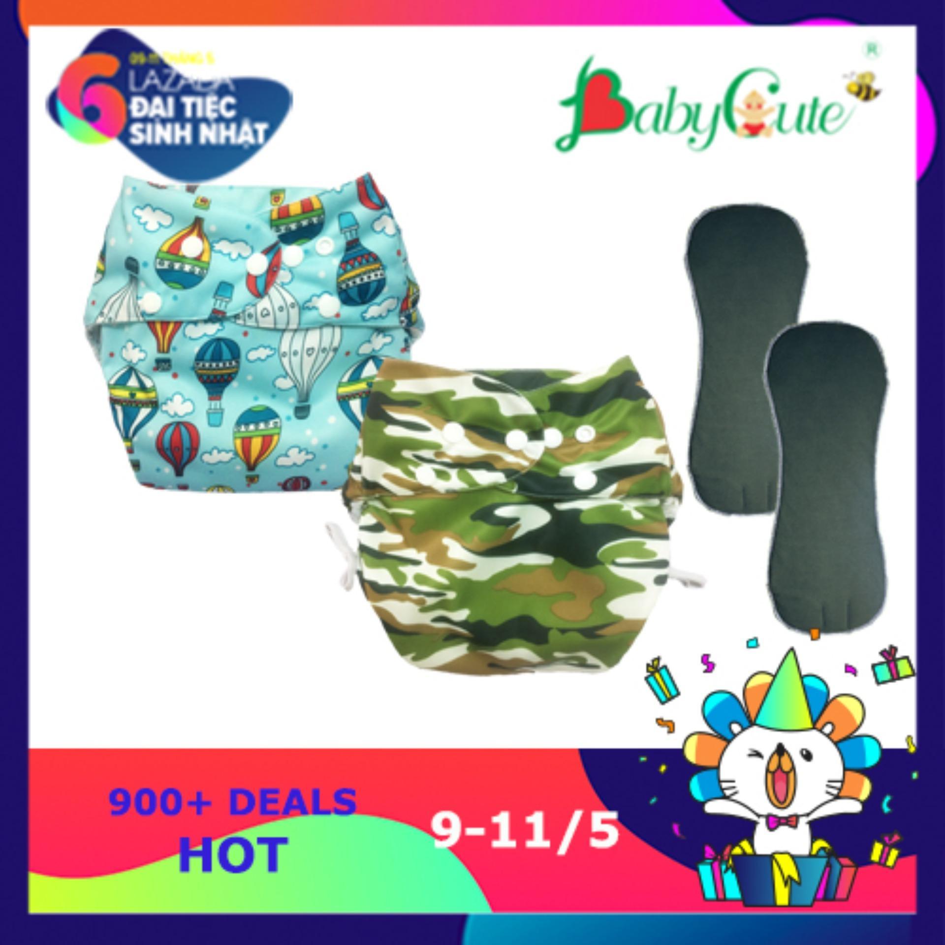 Combo 2 Bộ Ta Vải Đem Sieu Chống Tran Babycute Size M 8 16Kg Chiết Khấu Hồ Chí Minh