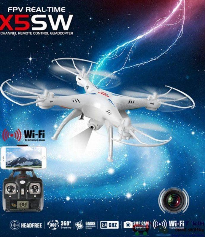 Hình ảnh Máy bay điều khiển Syma X5SW WIFI FPV RC Không Đầu Chế Độ Drone với Camera HD, Syma X5SW