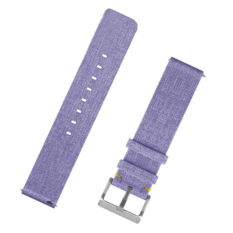 Fashion Nylon Fabric Replacement Wristband Wrist Bands Watch Band Strap Accessories for Fitbit Versa Smart Watch (Orange/Black/Grey/Blue/Purple) - intl
