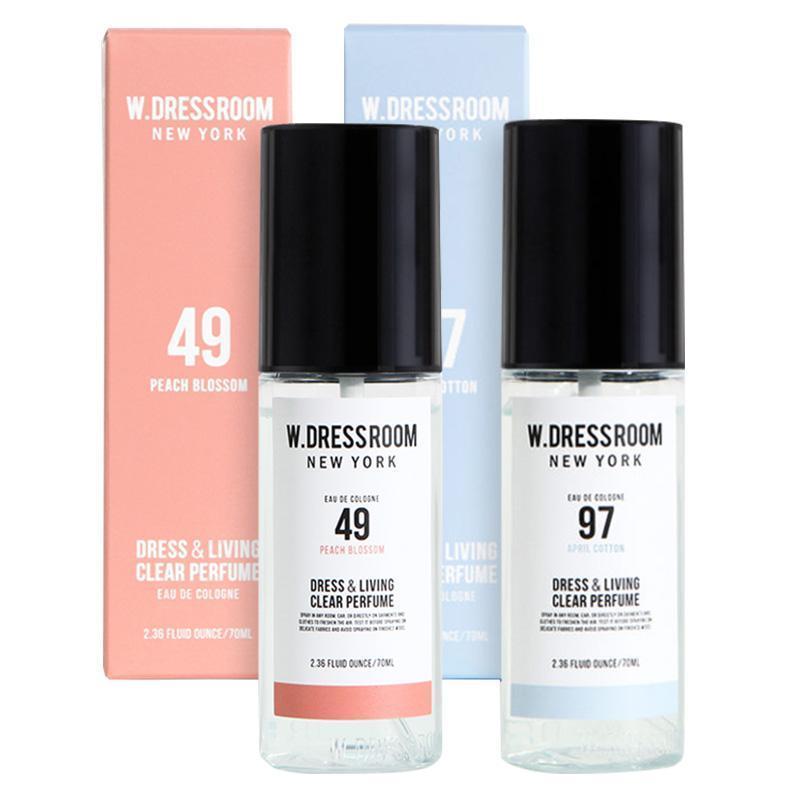 [COMBO] 드레스퍼퓸 No.49 + NO.97 피치블러썸 70ml  - Nước hoa xịt khử mùi W. Dressroom NO.49 + NO.97 nhập khẩu