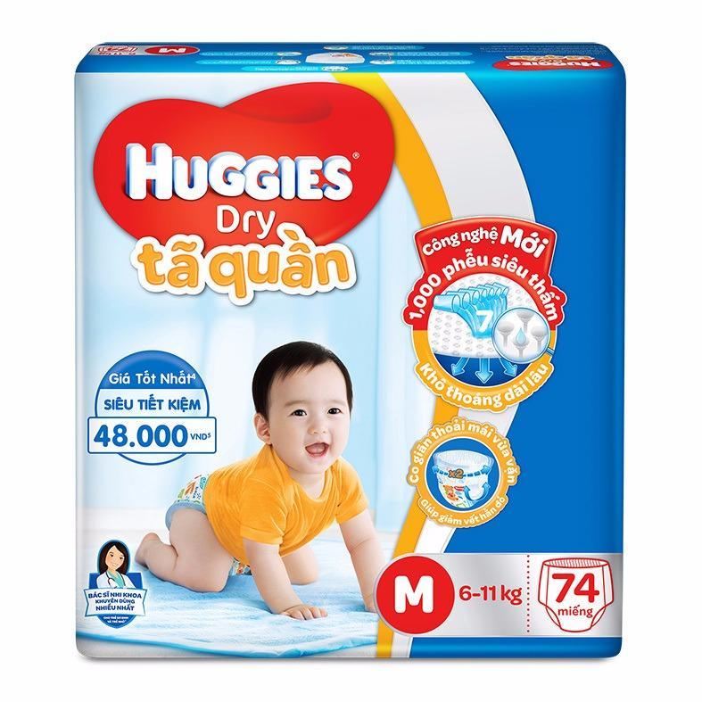 Mua Ta Quần Huggies Dry Super Jumbo M74