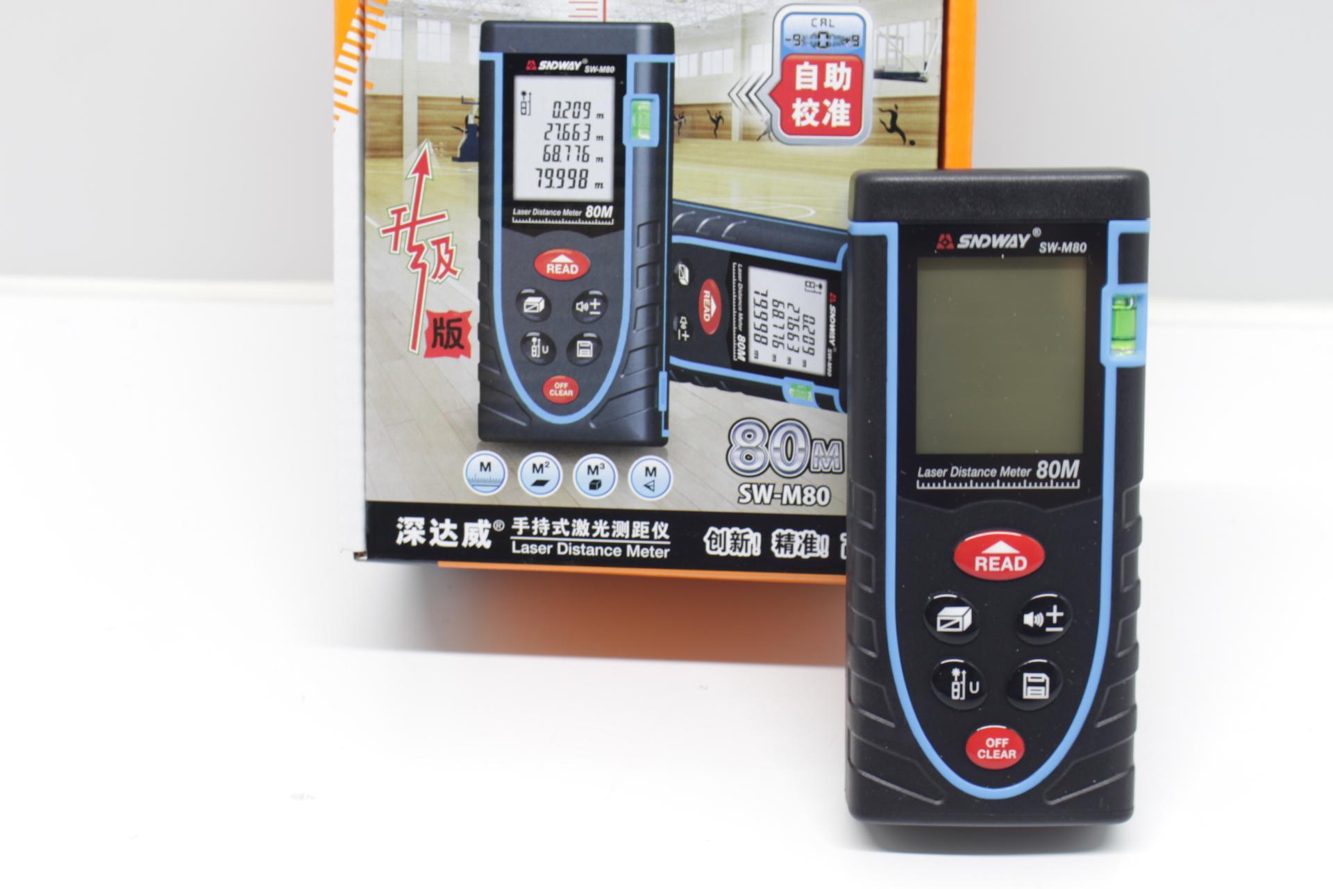 Thước đo khoảng cách bằng tia laser SNDWAY SW-M80 phạm vi đo 80M