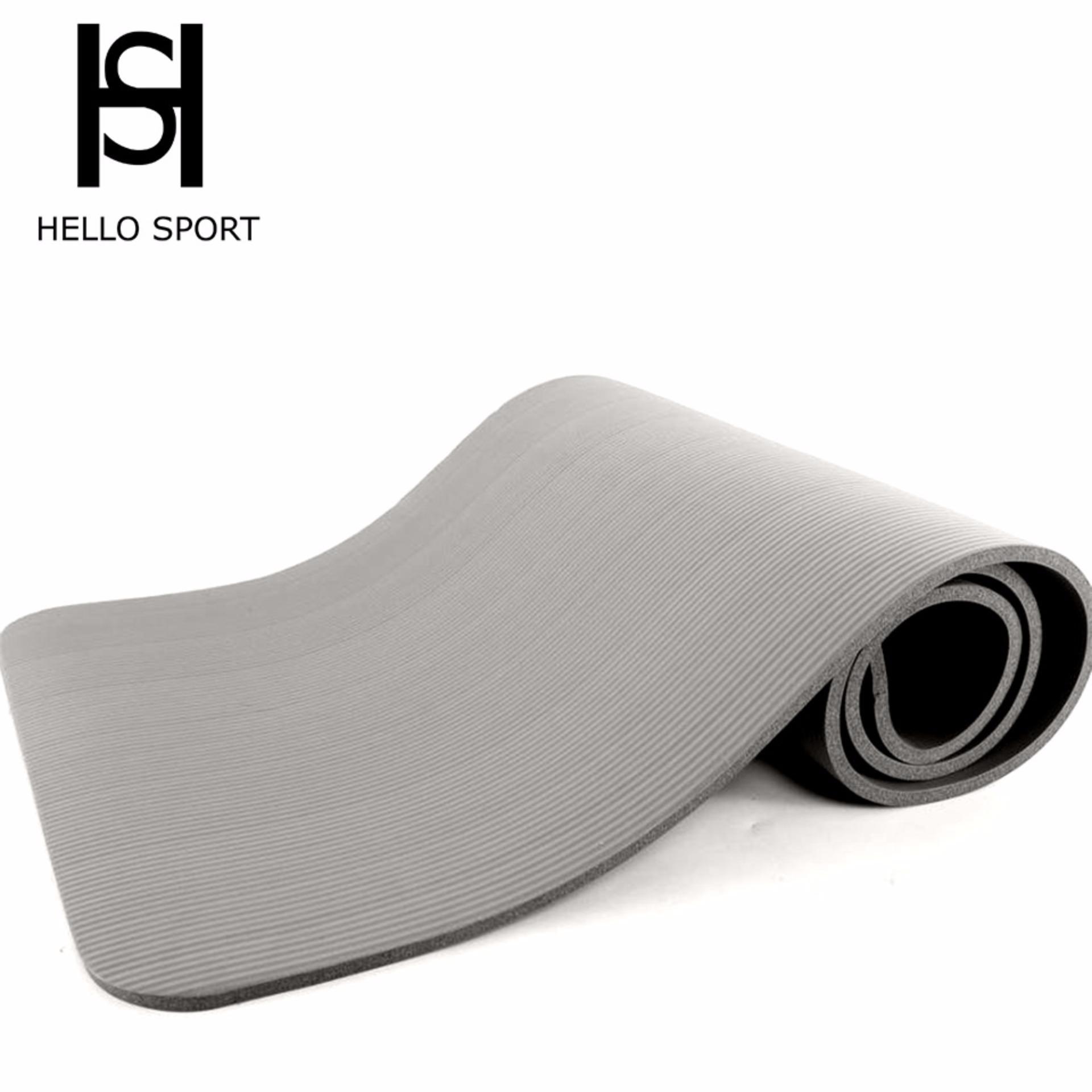 Bảng giá Thảm Tập Yoga Cao Cấp Siêu Dày 10mm HS ( Xám)
