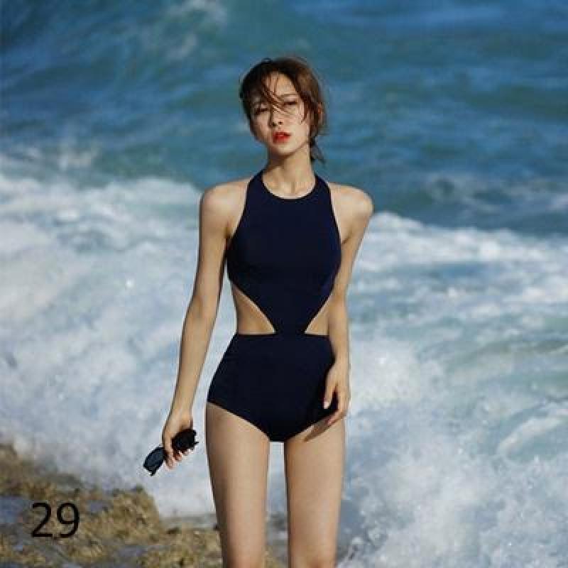 Nơi bán Bikini xanh đậm 1 mảnh che bụng mỡ