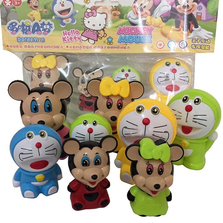 Hình ảnh Bộ nhân vật hoạt hình Doraemoon và chuột Micckey