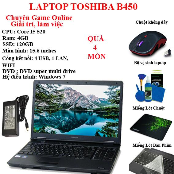 Hình ảnh Laptop Toshiba chuyên game online, giải trí, làm việc