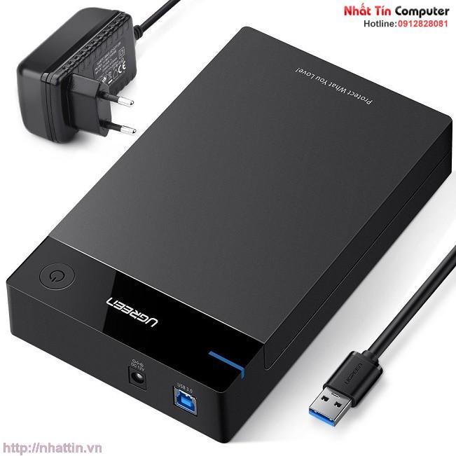 Hình ảnh Hộp đựng ổ cứng 3.5inch Sata USB 3.0 hỗ trợ 10TB chính hãng Ugreen 50422 cao cấp