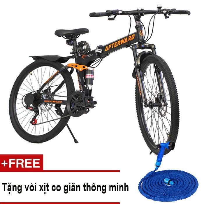 Xe đạp địa hình gấp AfterWard + Tặng ống nước, bơm và khóa chống trộm
