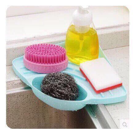 Hình ảnh Khay nhựa để xà phòng,giẻ rửa bát ở chậu bồn rửa bát