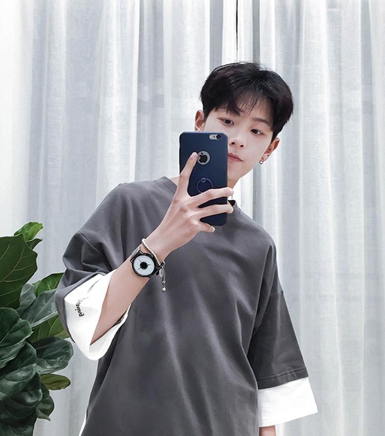 Hình ảnh Áo phông tay lỡ thời trang nam Nam Phong MEN TOP 066 CHA