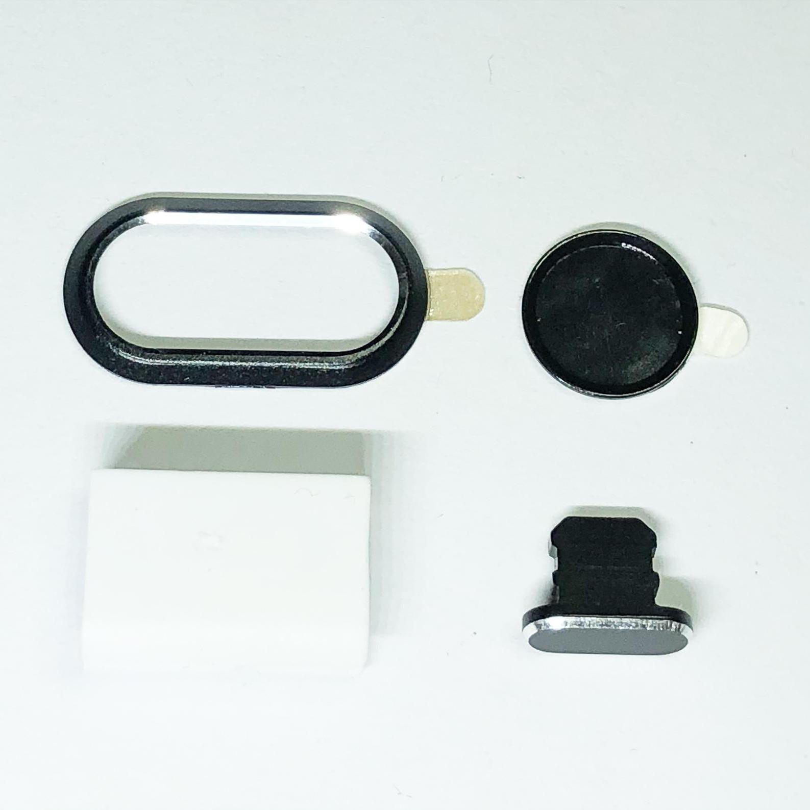 Hình ảnh Bộ phụ kiện bảo vệ viền camera, nút home, nút chống bụi nước cổng sạc, đai gắn cáp cho iphone 7 plus, 8 plus