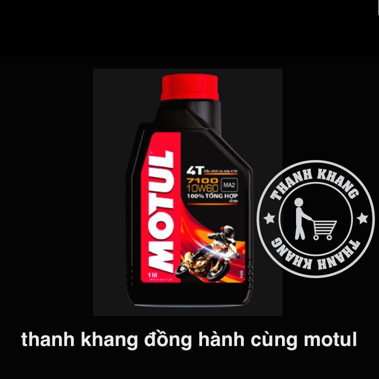 Nhớt tổng hợp cao cấp cho xe máy Motul 7100 4T 10W50 1L Thanh Khang 019000003