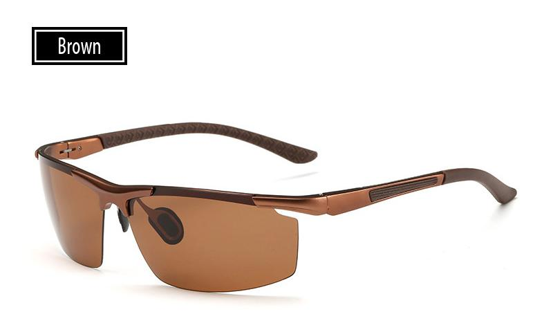 ELITERA 2018 แว่นตากันแดดผู้ชายแบบใหม่ผู้ชายแว่นกันแดดชายขับรถตกปลากลางแจ้งแว่นตาเครื่องประดับขายส่ง Oculos de sol E3085 สีน้ำตาล