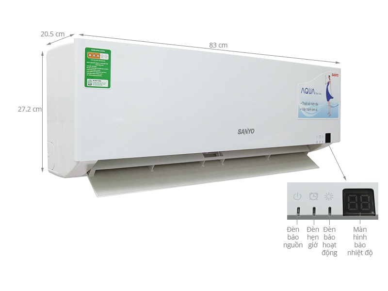 Thông số kỹ thuật Máy lạnh Sanyo 1.5 HP SAP-KC12ZGES