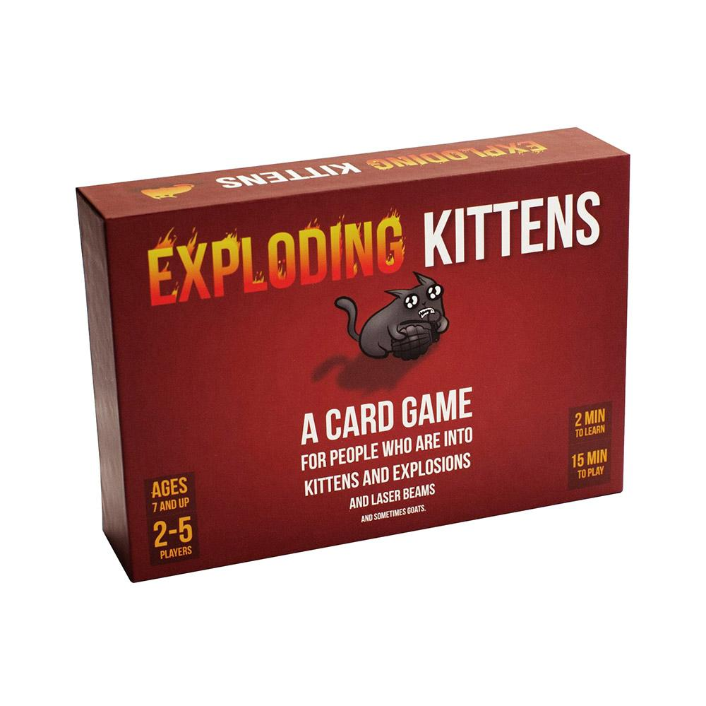 Hình ảnh Bộ bài mèo nổ đỏ cơ bản Exploding Kittens mèo cảm tử Boardgame