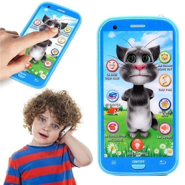 Hình ảnh Smartphone đồ chơi mèo tôm siêu đáng yêu cho trẻ em