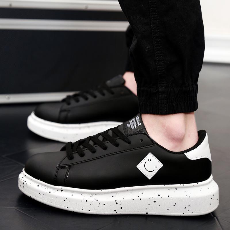 2019 model baru musim semi sepatu pria netral sepatu sneaker Gaya Korea  Tren Sepatu penambah tinggi 2210b5a3fb