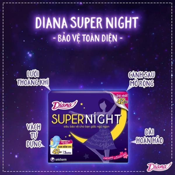 Băng vệ sinh ban đêm Diana Super Night 42 cm