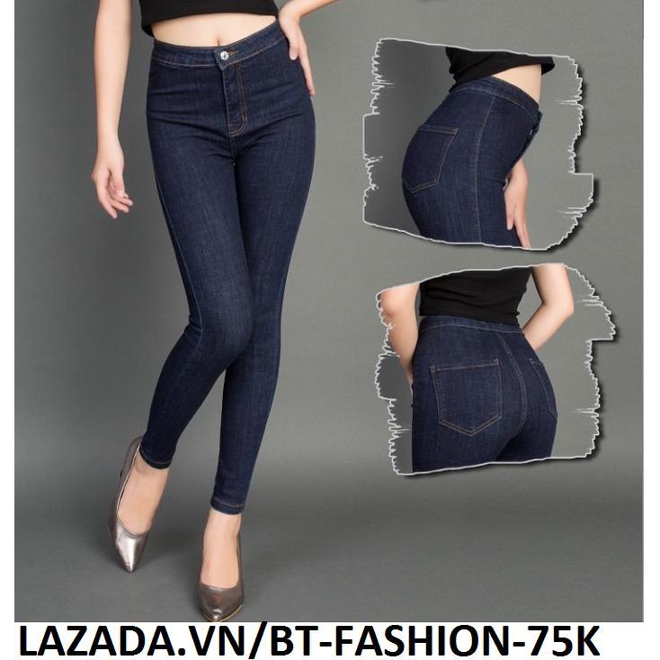 Bán Quần Jean Nữ Lưng Cao Coton Co Dan Thời Trang Mới Bt Fahsion Bt Fashion Rẻ