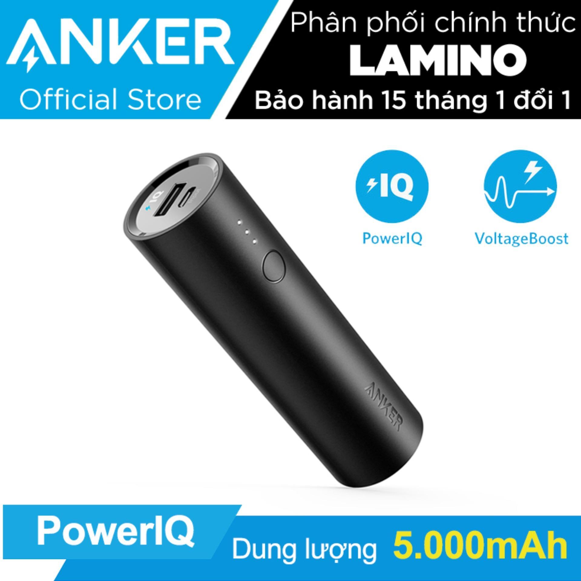 Bán Pin Sạc Dự Phong Anker Powercore 5000Mah Hang Phan Phối Chinh Thức Có Thương Hiệu