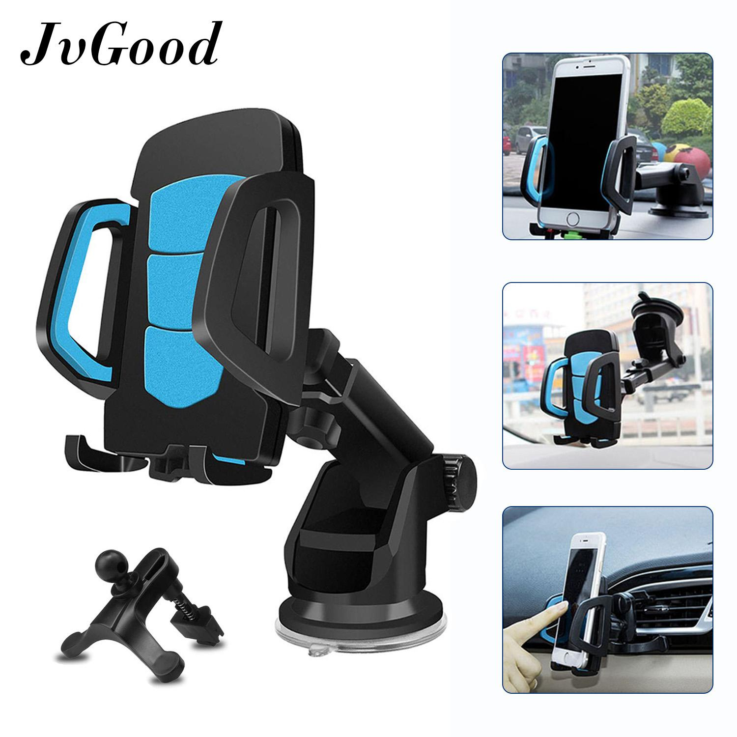 Jvgood Car Mount Holder,3 In 1 Universal Smartphones Car Air Vent, Gps Dashboard Or Windshield Touch Car Mount Holder For I Phone S Amsung And Gps Navigations By Jvgood.