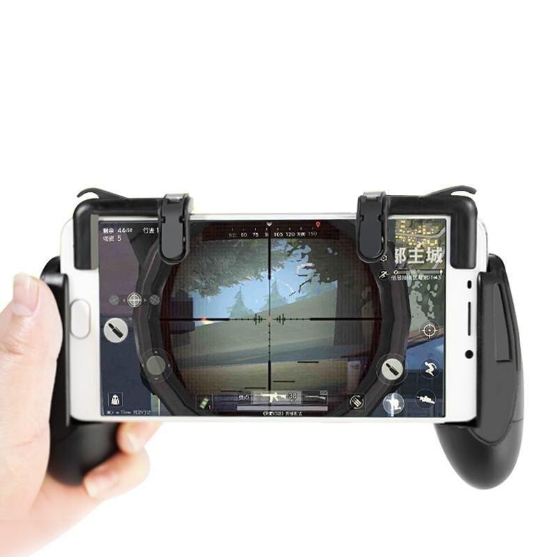 Hình ảnh Bộ tay cầm kẹp điện thoại kèm nút chơi game Pubg, Liên Quân, Đột kích, Ros GKPGT01 cho điện thoại
