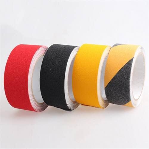 Hình ảnh (Cuộn lớn) Băng dán chống trơn trượt Heskin nhiều màu - 5cm x 18.3m (Đen/Nâu/Xám/Vàng-đen cảnh báo) - Tại TP.HCM