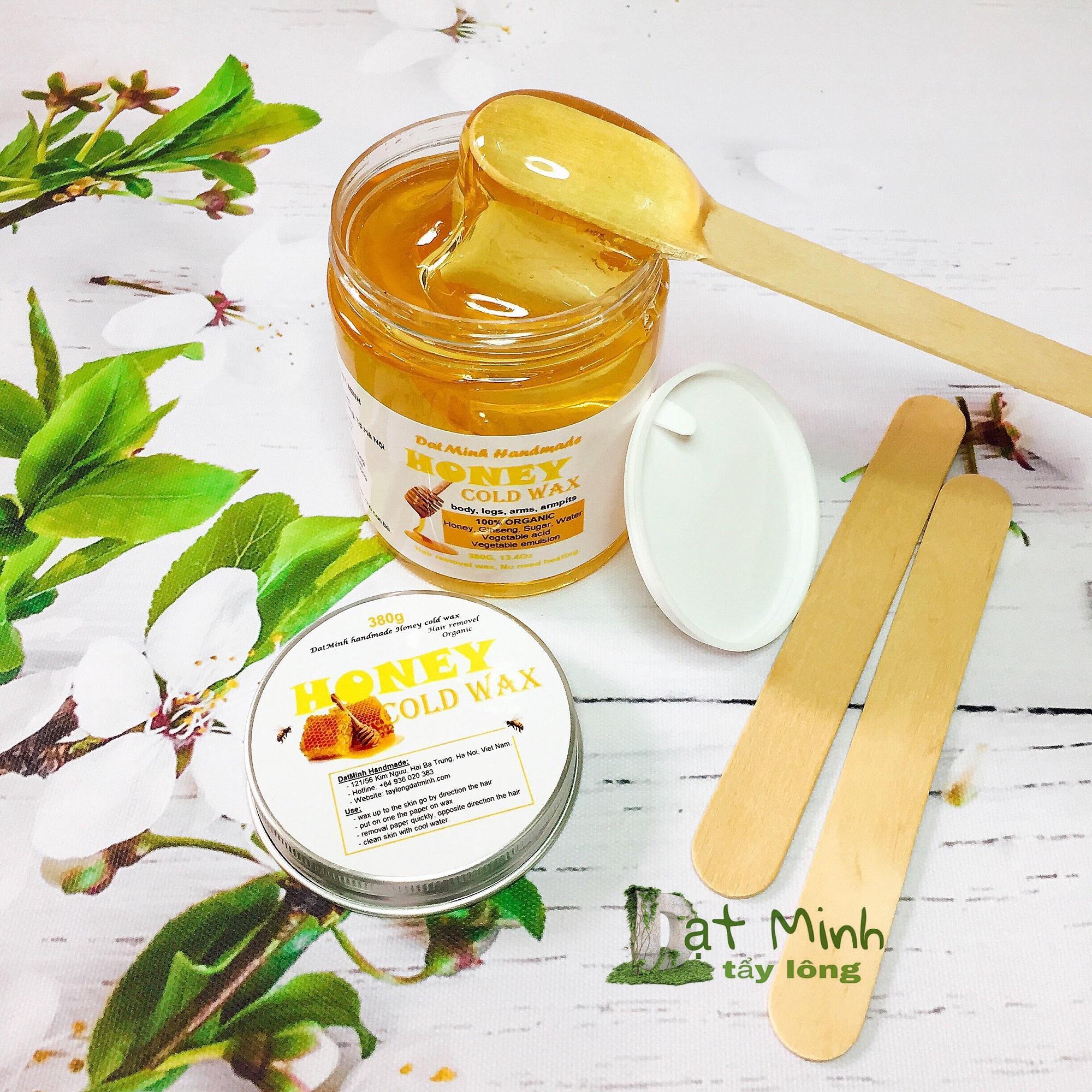 Sáp wax lạnh tẩy lông ĐạtMinh handmade honey cold wax 380G