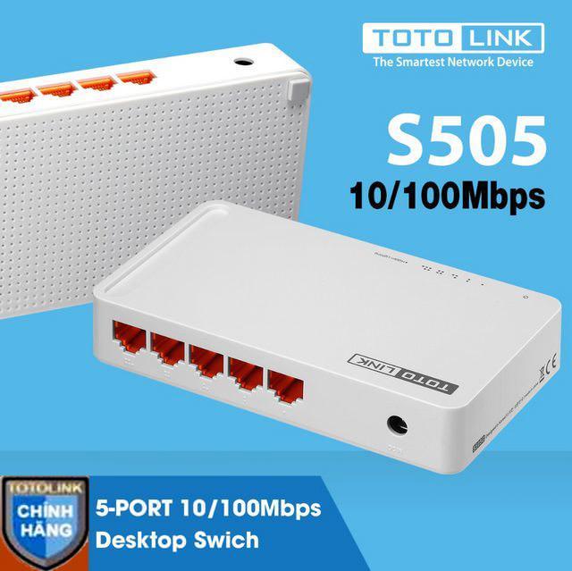 Hình ảnh Switch ToToLink S505 / 5-Port 10/100Mbps - HÃNG PHÂN PHỐI CHÍNH THỨC
