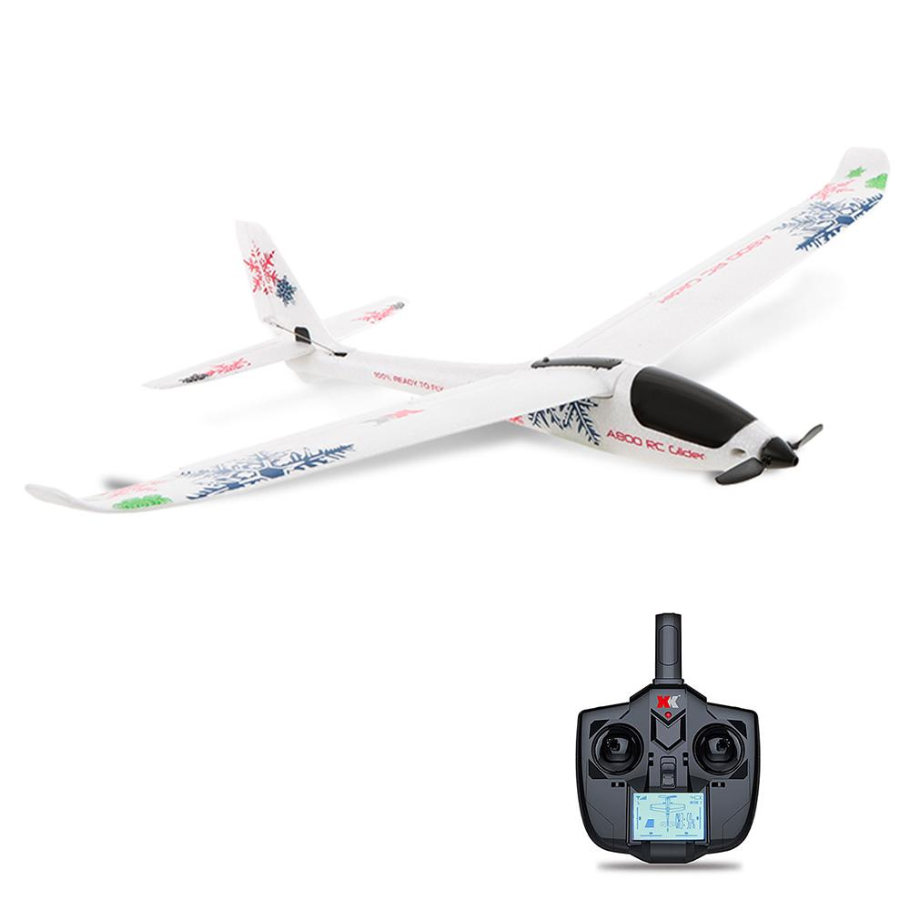 Xk A800 4ch 780mm 3d6g System Rc Glider Airplane Compatible Futaba Rtf Models:a800 By Saide Trade.