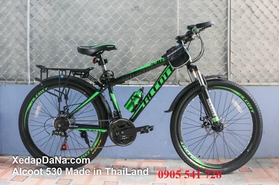 xe đạp địa hình Alcott 530-XC màu xanh lá