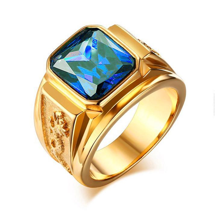 Hình ảnh Nhẫn Nam Titan khắc Rồng sang trọng vĩnh viễn không đen