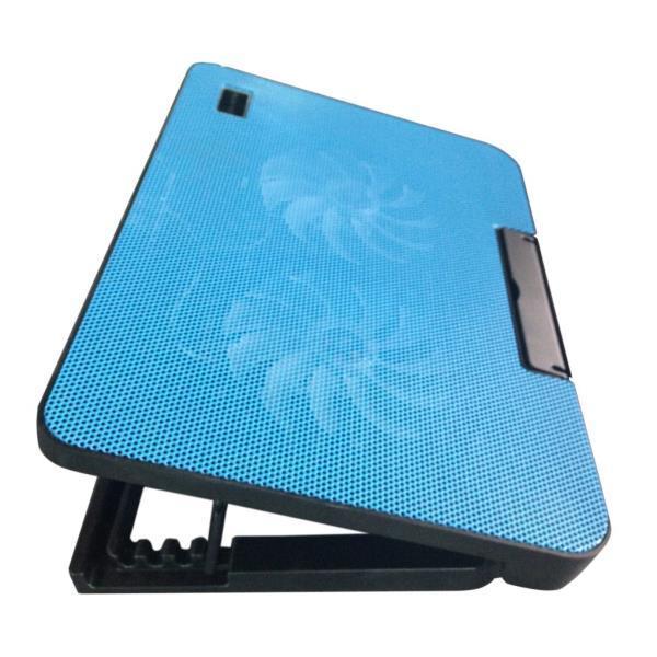 Hình ảnh Đế tản nhiệt laptop cực mạnh có đế nâng 45 độ hổ trợ 2 cánh quạt mạnh mẽ