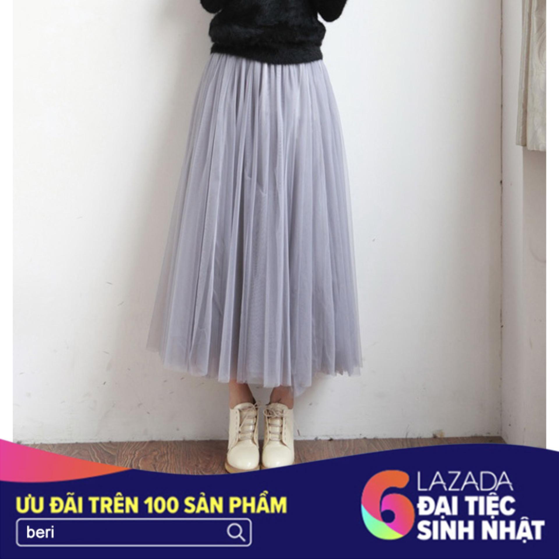 Mua Chan Vay Voan Lưới Xoe Beri Xam Cv044 Trong Hồ Chí Minh