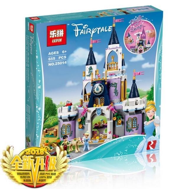 Hình ảnh lắp ráp lego disney princess 25014 - lâu đài lọ lem cỡ lớn