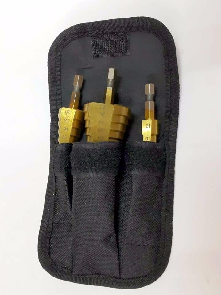 Bộ 3 mũi khoan bước titanium 4-32mm