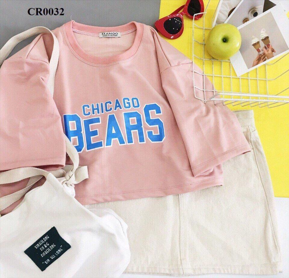 áo thun nữ cổ tròn chicago bears roptop XUMON