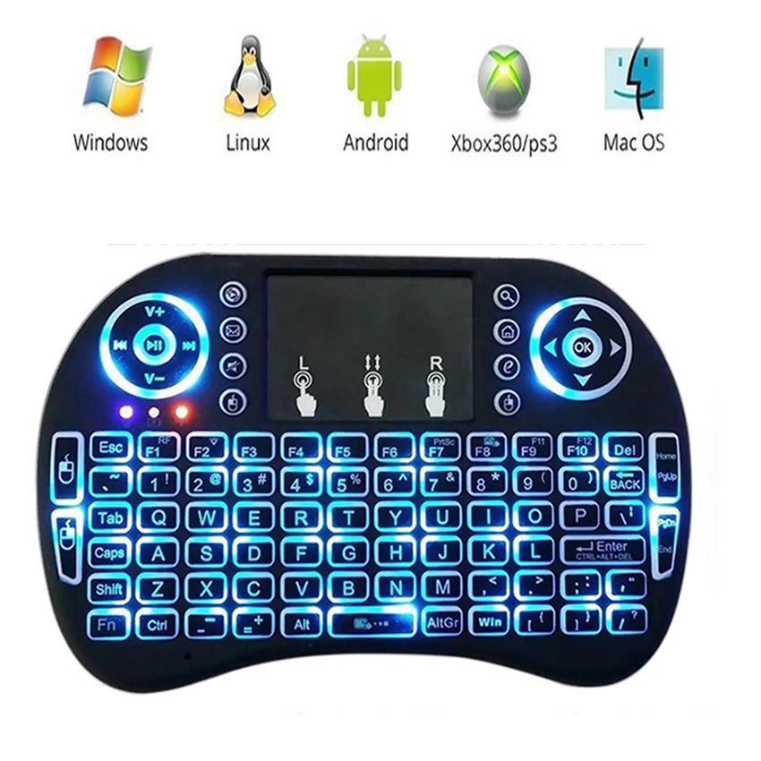 Hình ảnh Bàn Phím Kiêm Chuột Bay Ukb500 Pro (Có Đèn Led) dành cho Android TV box, Smart TV, Laptop