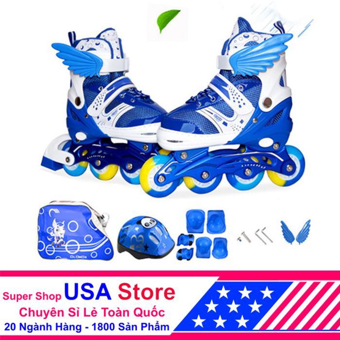 Giày Trượt Patin F1 Cánh Thiên Thần Đủ Bộ Xanh Size M (35-38)  ACN1040 -01 NEWT5218  [ Giảm Thêm 20% Nhập Voucher USAVIP1 ]