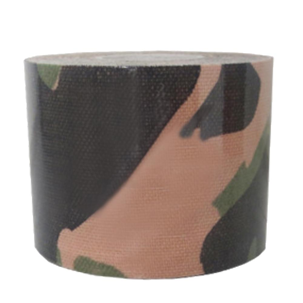 Hình ảnh 1Roll Sports Injury Elastic Tape Strong Self-adhesive Waterproof Breathable Muscle Support Tape Reduces Fatigue for Knee Shoulder Elbow Ankle Back Neck 196.85 x 1.97inches Camouflage-green - intl
