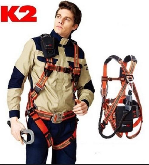 Dây an toàn toàn thân Hàn Quốc K2 KB-9202 2 móc nhôm