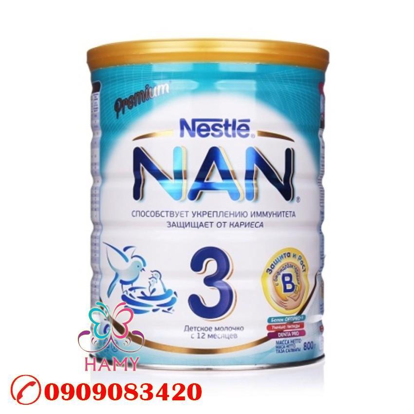 Sữa Bột Nestle NAN Optipro 3 (800g) nhập khẩu Nga OEM – Review sản phẩm