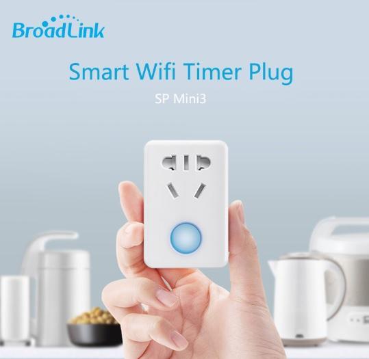 Ổ điện thông minh điều khiển bật tắt từ xa qua wifi internet BroadLink (trắng)